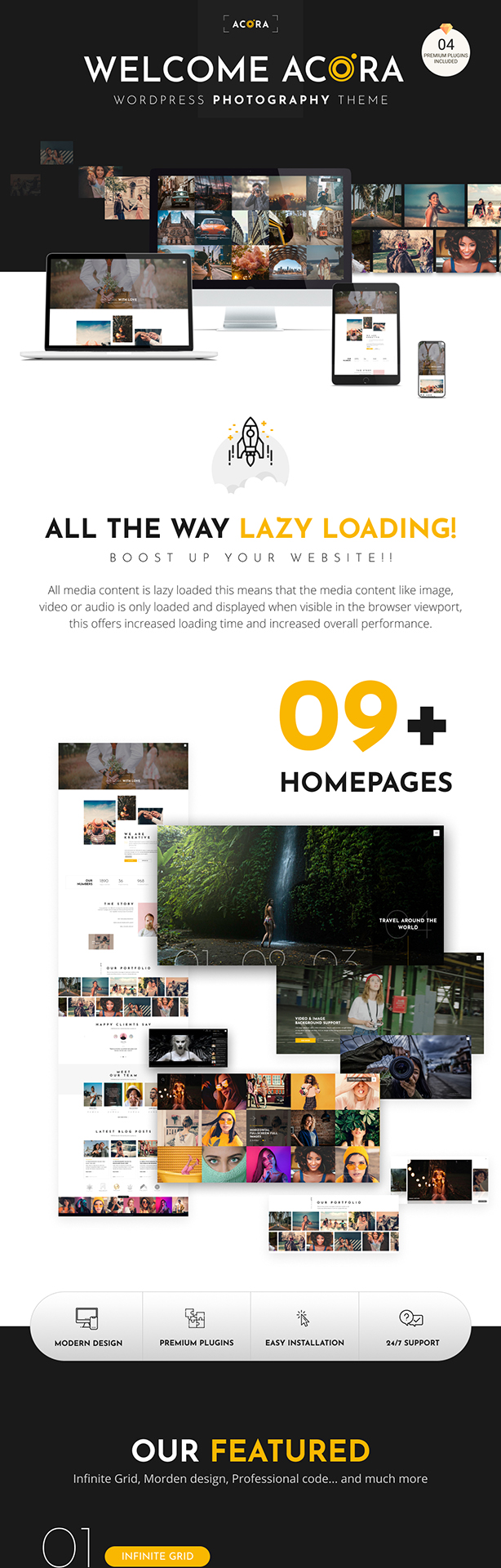 Acora - Photography WordPress Theme - 1