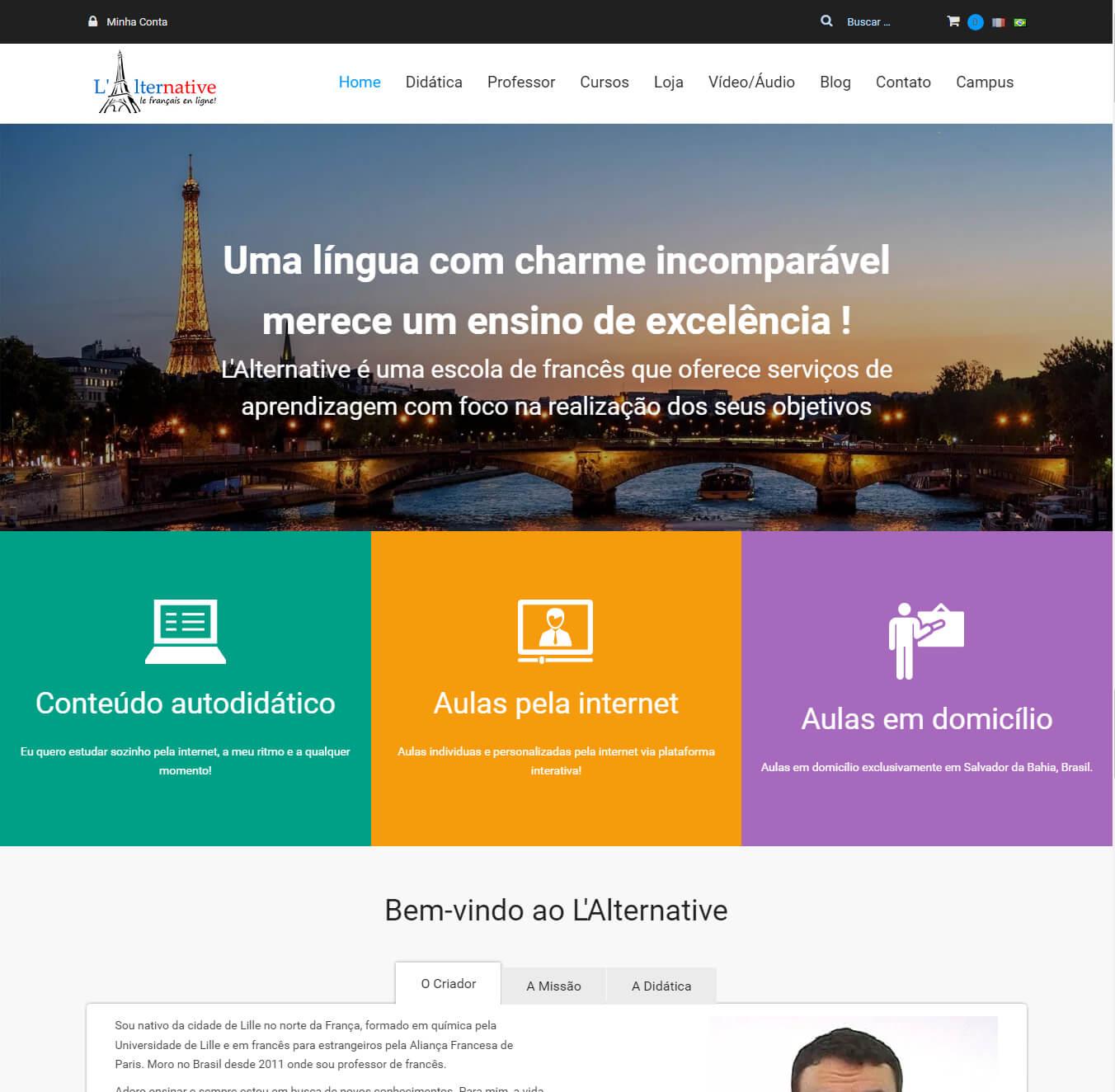 L'Alternative - Aula de francês online