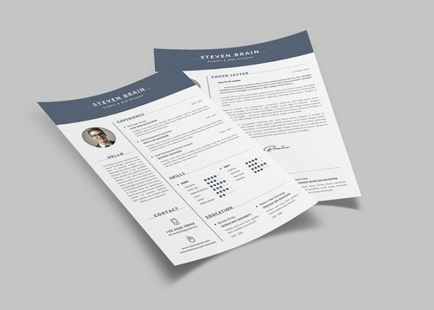 60  Awesome Resume CV Templates 2018  Word  Indesign  PSD  cv resume cover letters