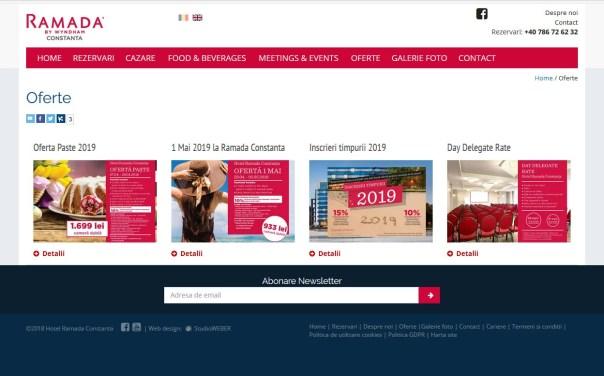 Realizare site Hotel Ramada Constanta
