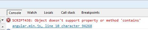 AngularJS directive mouseleave error
