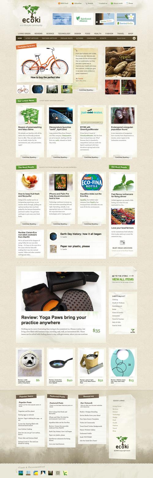 Ecoki, The Eco-Lifestyle Community