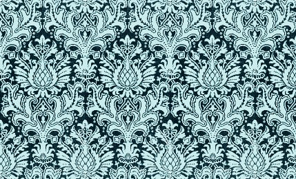 Dark Teal Damask Wallpaper