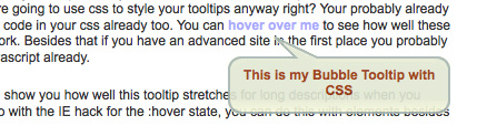 CSS Bubble Tooltips