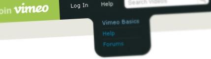 Create Vimeo-like top navigation