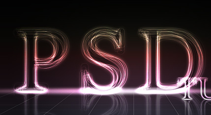 Create a Layered Glowing Text Effect