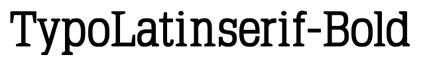 TypoLatinserif-Bold