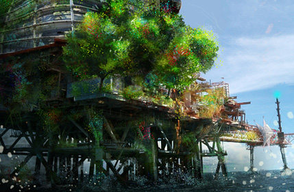 How to Combine Digital Painting and Photo Manipulation to Create a Platform Environment