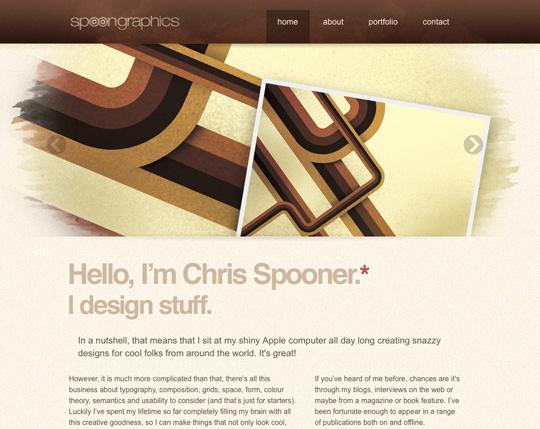 brown web design