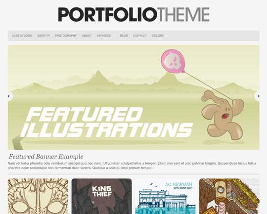 wordpress portfolio theme