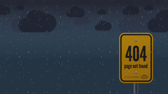 Dailymotion Cloud 404 page