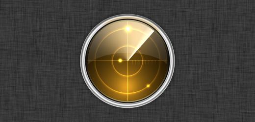 Radar Icon in Photoshop