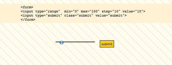 Range Type in HTML 5