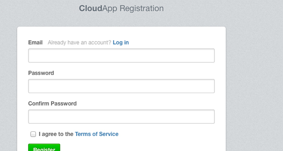 Signup for CloudApp