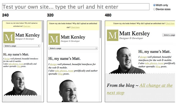 Tools and Scripts for Responsive Web Design