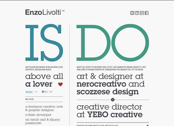 Inspiring Single Page Designs