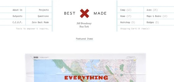 Best Made Company home webpage