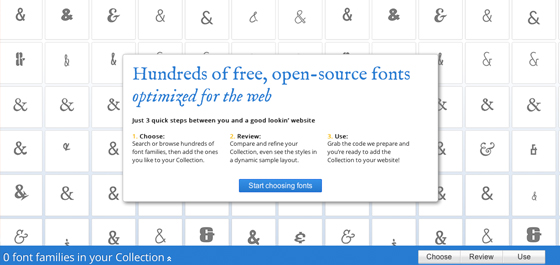Google Web Fonts - Dynamic CSS Typography