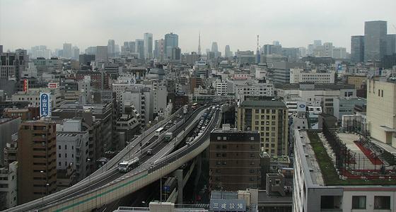 downtown tokyo japan - city traffic