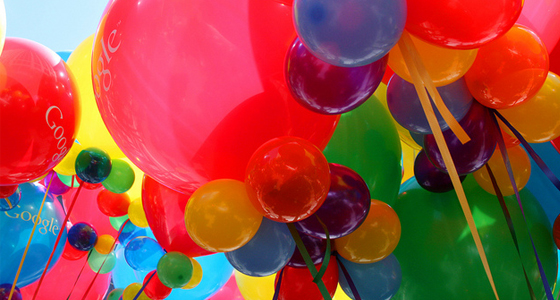 colorful air balloons with Google, inc.