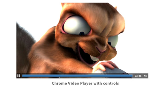 Chrome video player