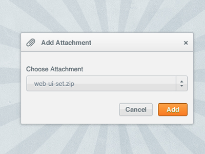 clean orange window design psd