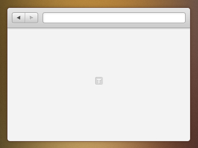 simple empty browser freebie psd
