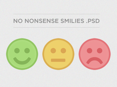 no nonsense smilies psd freebie