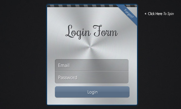 Apple-like Login Form with CSS 3D Transforms