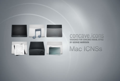 Concave Mac Icons