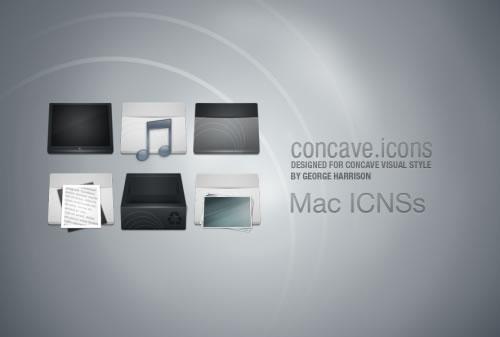 Concave Mac Icons