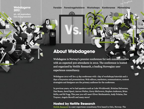 Black, White and Grey in Web Design