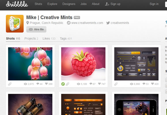 Dribbble shots graphics design