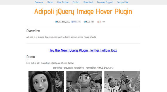 10 jQuery Plugins that Will Make your Live Easier