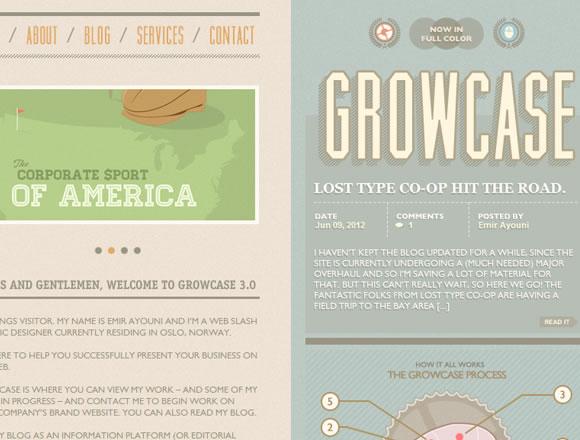Website portfolio layout design