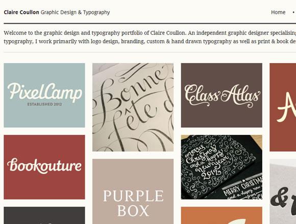 Claire Coullon typography design portfolio