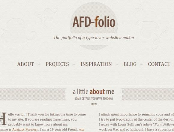 Aurelien Foutoyet France-based web designer