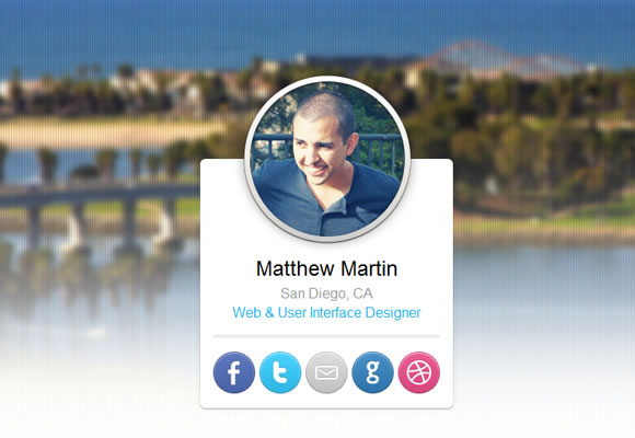 Matthew Martin portfolo website layout design
