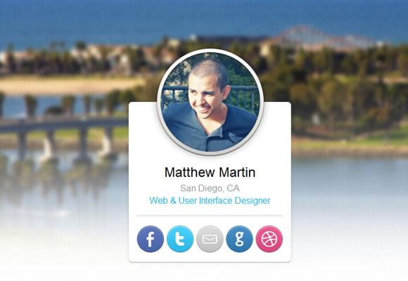 Matthew Martin portfolo website layout design