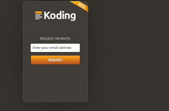 Koding IDE web social networking private beta invitation