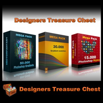 DealPixel: Designers Treasure Chest – 95,000 Gradients and Layer Styles