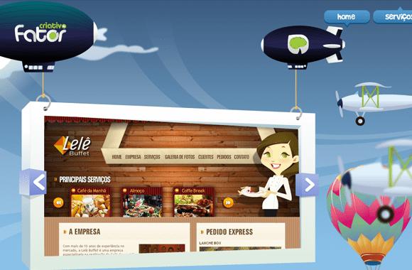 Fator Criativo illustrated web design layouts