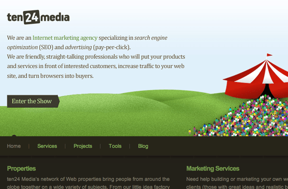 1024 Media Website layout design company