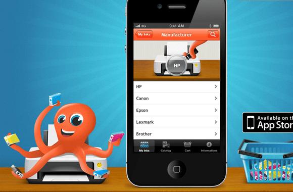 inkFinder iPhone App iOS UI website layout