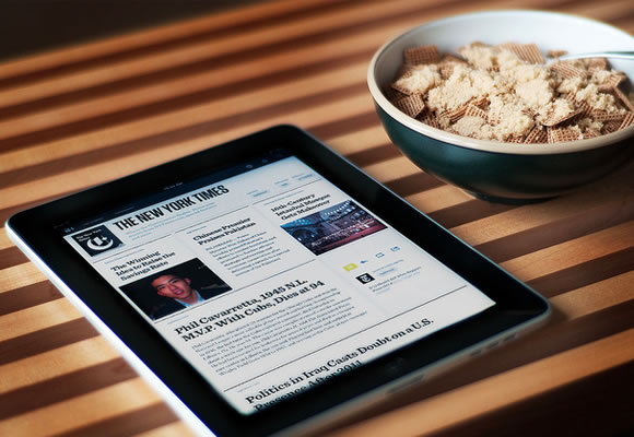 featured photo image - newspaper reading text iPad application