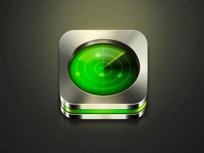 green radar iphone app icon design