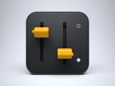 dark iPhone iPad icon switches