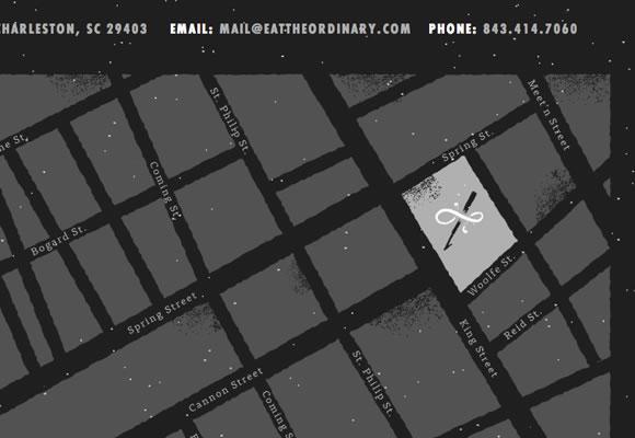 ordinary website interface restaurant footer design