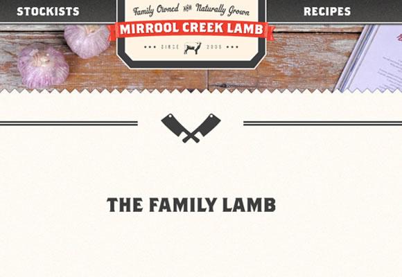 mirrool creek website design interface layout