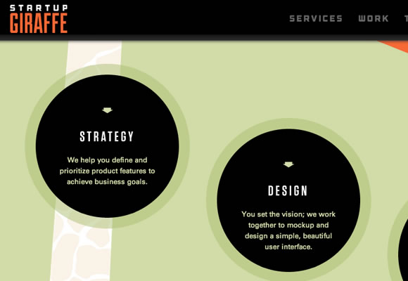 vectors circles website design singlepage studio startups